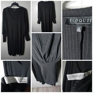 Eloquii Black Cuffed Wrist Dress Size 26